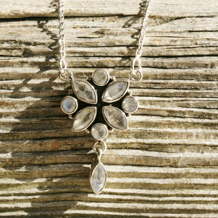 Moonstone Necklace - Moonstone Silver Necklace