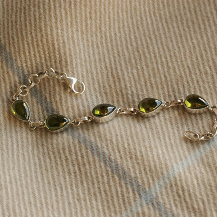 Olive Topaz Silver Bracelet - Claire Hartley Silver Jewellery