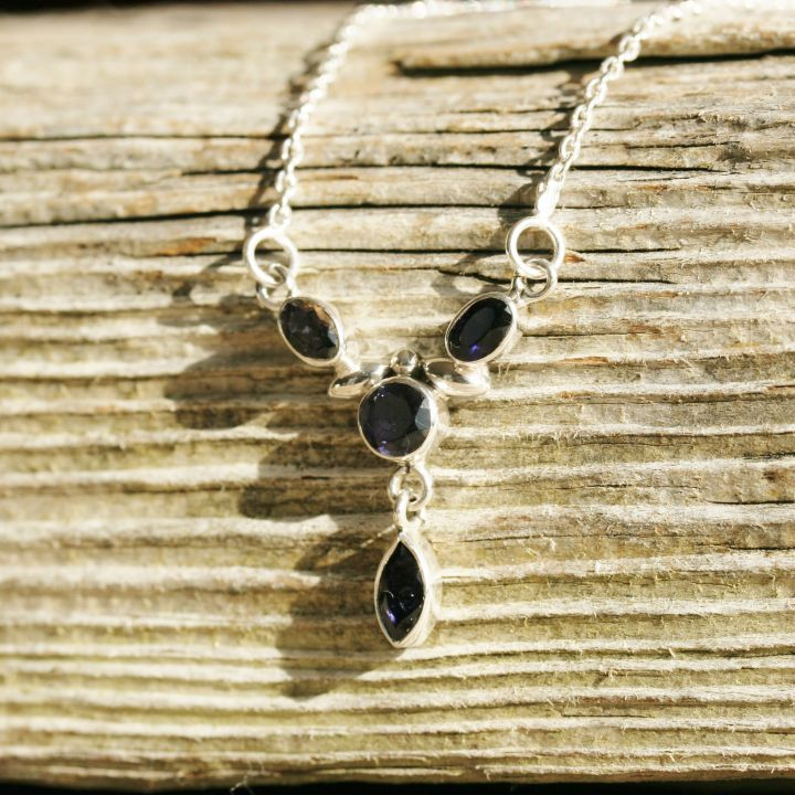 Iolite Silver Necklace - Silver Jewellery