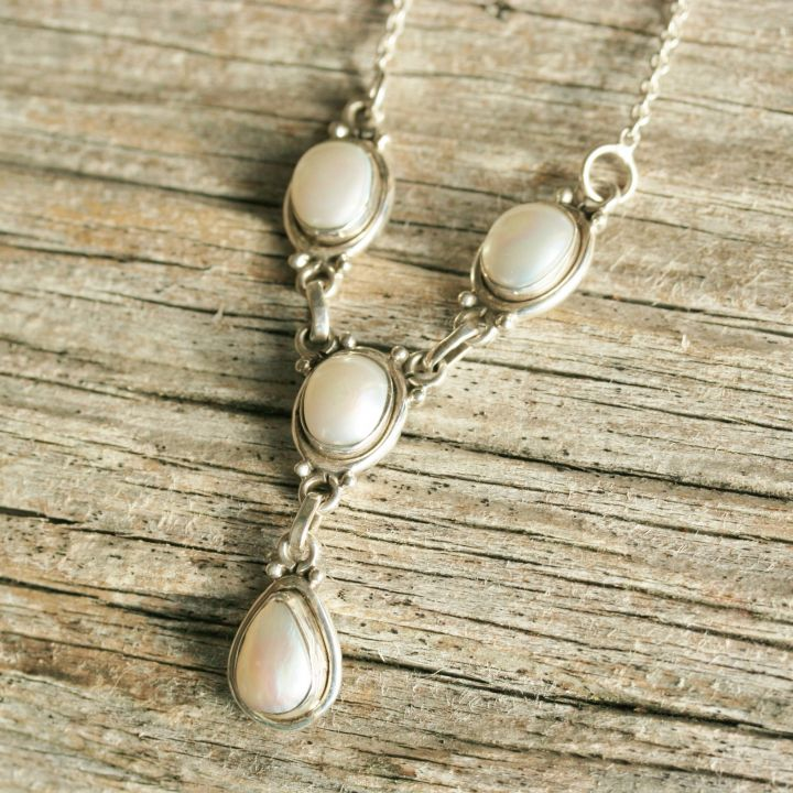 Silver Pearl Necklace - Pearl Jewellery