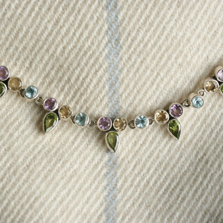 Mixed Stone Necklace. Silver jewellery